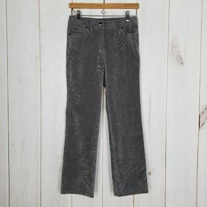 New Directions Gray Corduroy Pants Petite
